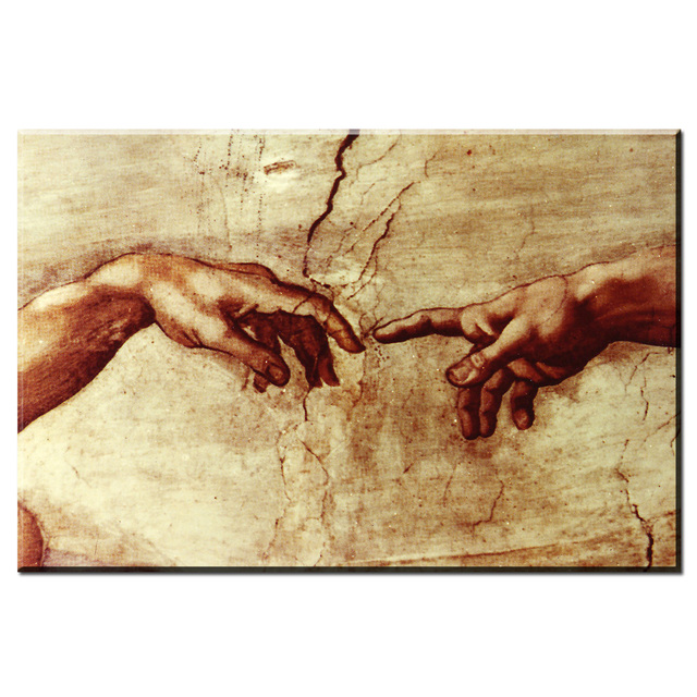 xdr189 famous canvas painting creation of adam by michelangelo