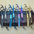 2Pcs 5.5'' 16cm Purple Dragon Professional Hair Scissors Hairdressing Cutting Shears +Thinning Scissors Hair Styling Tools Z1005