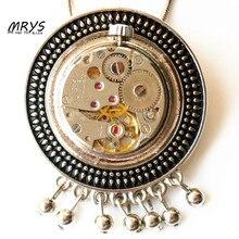 steampunk gothic punk rock watch parts pendant collar brooch pins chain charm choker men women vintage handmade diy jewelry gift