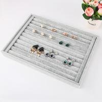 5 אפור תצוגת חפצים ארגונית קופסא תכשיטים בסגנון סיכת שרשרת עגיל טבעת צמיד תכשיט ארון קופסא קישוט החתונה