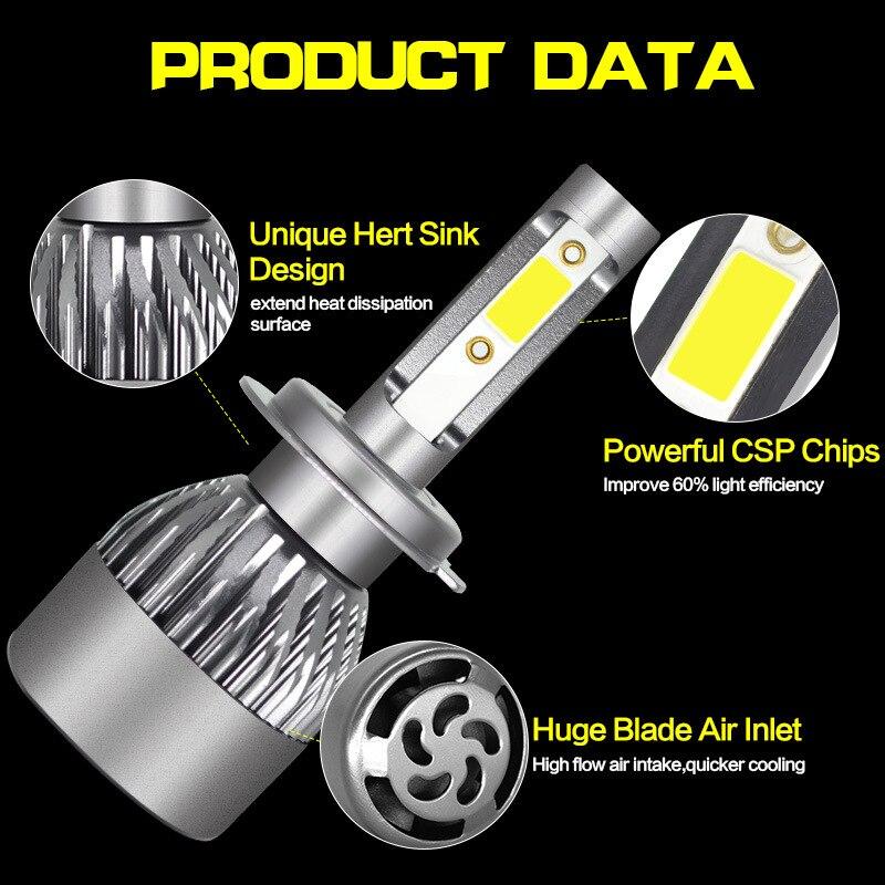 AZGIANT F32B 2 pièces Mini lumière LED H1 H4 H7 H11 9005 9006 Étanche IP 67 et COB Puce Plus Brigter Voiture phare LED