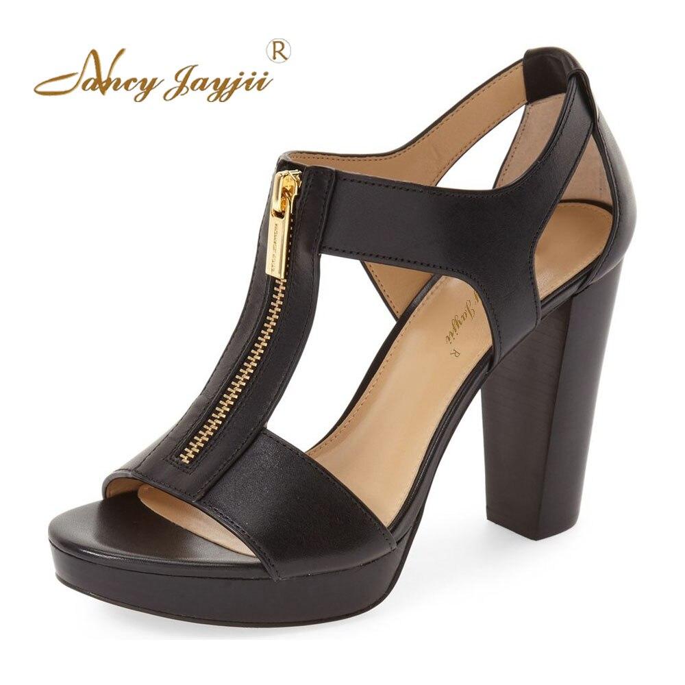 Nancyjayjii Натуральная кожа Платформа сандалии женщины сексуальный 14 см высокие каблуки кожаные сандалии партии&Повседневная женская обувь больших размеров 16