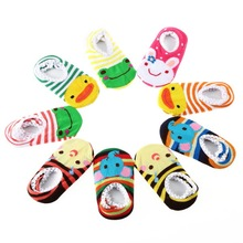 free shipping 1pair Cute Lovely Infant Toddler Baby's Cartoon Pattern Ankle Socks Anklet Random Delivery