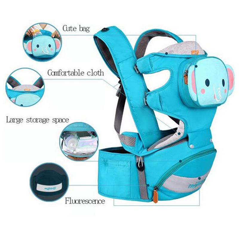 3-36 Months ergonomic baby carrier 4 in 1 Breathable Front Facing newborn infant kangaroo baby carrier with hipseat Backpack hot sell infant sling comfort baby 0 30 months breathable front facing baby carrier multifunctional infant kangaroo bag
