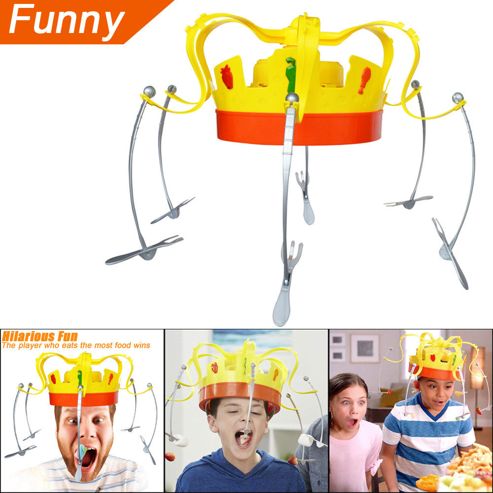 Baby Toys Novel Chow Crown Game Musical Spinning Crown