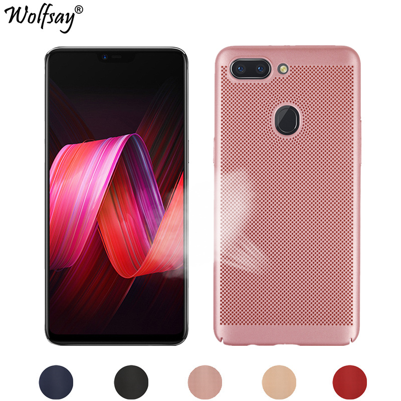 Wolfsay Hard PC Case OPPO R15 Case Oppo R 15 Fashion Heat Dissipation Phone Cover For OPPO R15 Cover Standard Edition Fundas