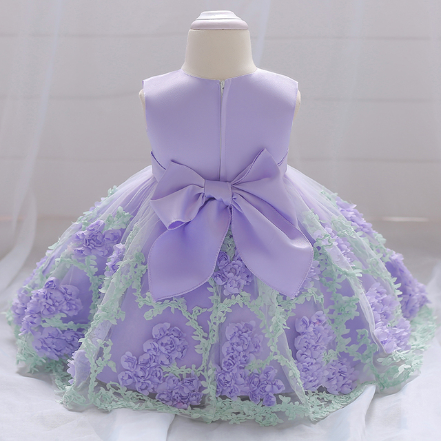 61a3e8f96 Baby Girl Birthday Party Ball Gown Dresses Newborn Baby Baptism ...