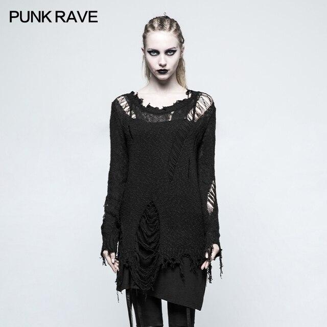2017 New Design Punk Rave Sweater Women Sweaters And Pul Blusas De Inverno Feminina M