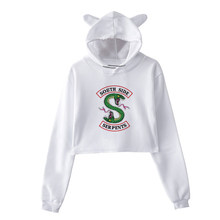 Hot Selling Riverdale Hoodie Clothes Kawaii SouthSide Serpents Animal Print Pullover Streetwear Sexy Crop Top White Women Hoodie(China)