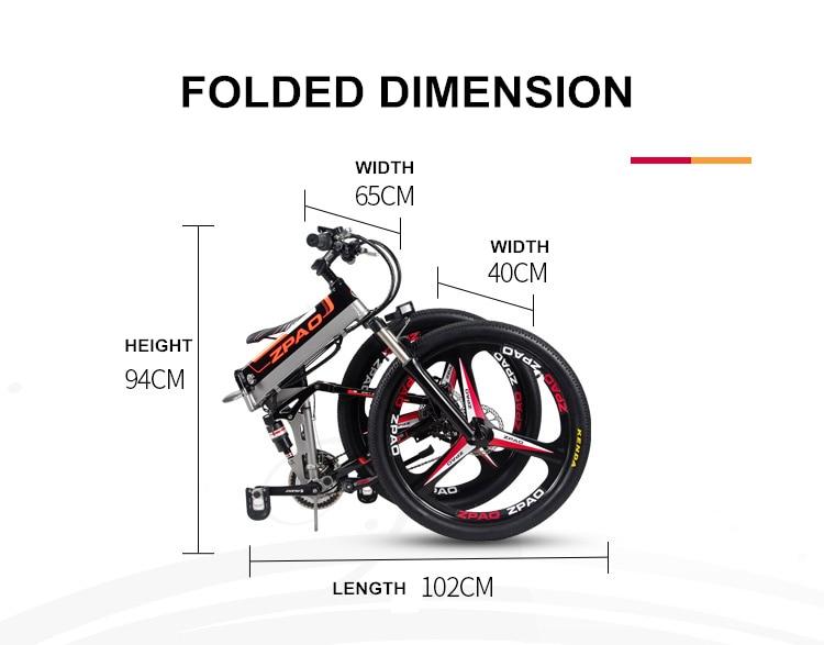 HTB166q9h3fH8KJjy1zcq6ATzpXai - 21 Velocity, 26 inches, 48V/15A, 350W, Folding Electrical Bicycle, Mountain Bike, Lithium Battery, Aluminum Alloy Body, Disc Brake.