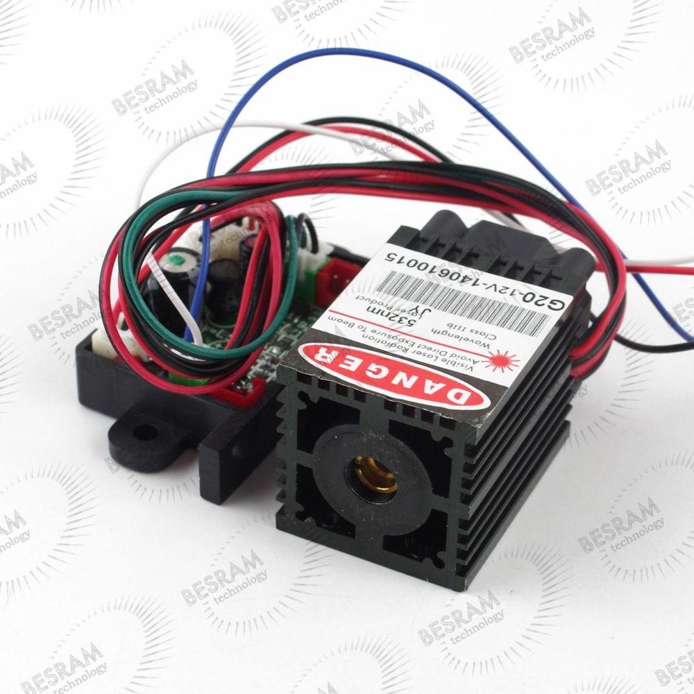 12V 532nm 50mw-70mw Green Laser Dot Module with Auto Temperature control