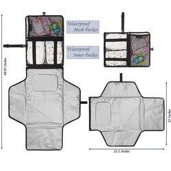 Novo à prova dwaterproof água mudando almofada fralda viagem multifuncional portátil bebê fralda capa tapete limpo mão dobrável saco de fraldas