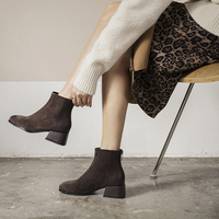 Стильные ботинки на низком каблуке