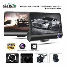Car DVR 3 Cameras Lens 4.0 Inch Dash Camera Dual With Rearview Video Recorder Auto Registrator Dvrs Cam