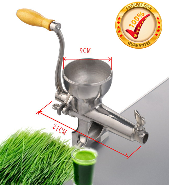 Top quality manual stainless steel WheatGrass Juicer,healthy wheat grass juicer machine,wheat grass juice extractor