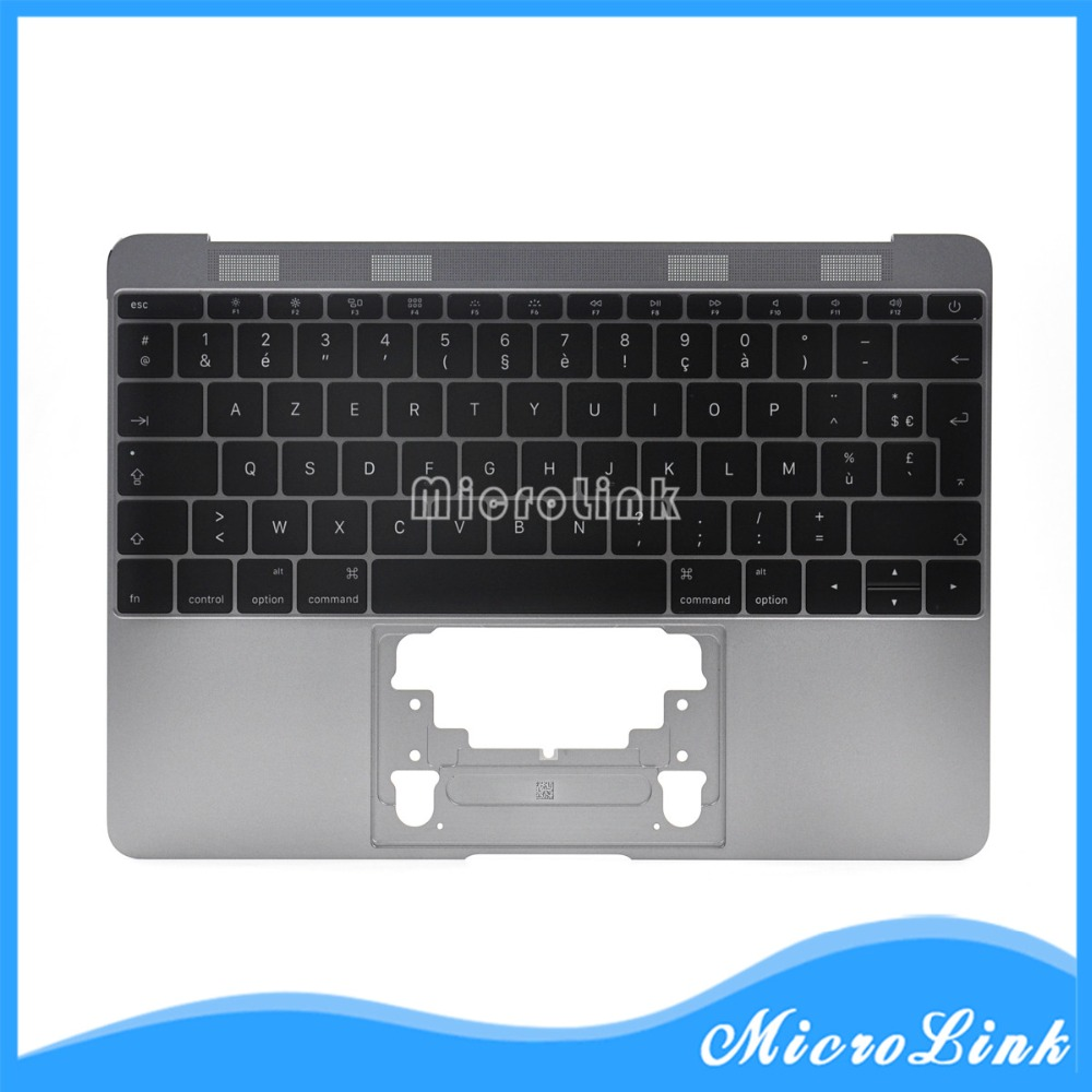New FR Topcase with keyboard for MacBook Retina 12 A1534 French FR keyboard with Backlight 2016 nokotion a000076380 laptop motherboard for toshiba satellite l655d l650d socket s1 ddr3 da0bl7mb6d0
