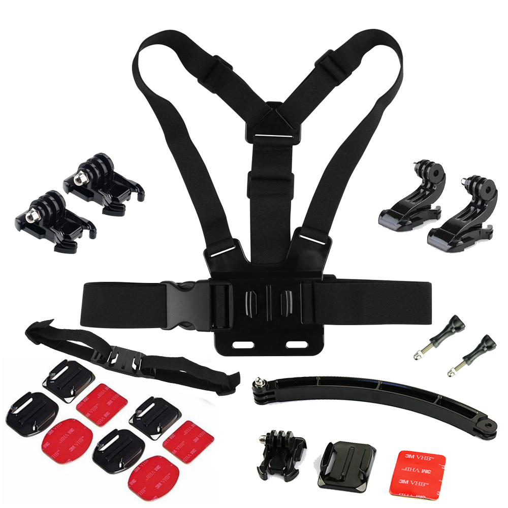 Go Pro Helmet Mount kits Selfie Cycling Skitting Accessories Set For GoPro Hero 5 3 4