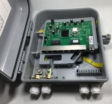 Обратный PoE ОНУ 8FE наружного применения Защита от всплесков напряжения защиты от воды IP65 RPOE GEPON ОНУ