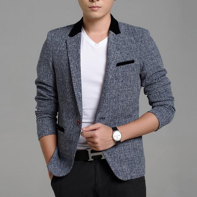 Autumn Winter Style Business Casual Men Blazers Professional Formal Wedding Beautiful Design Plus Size M