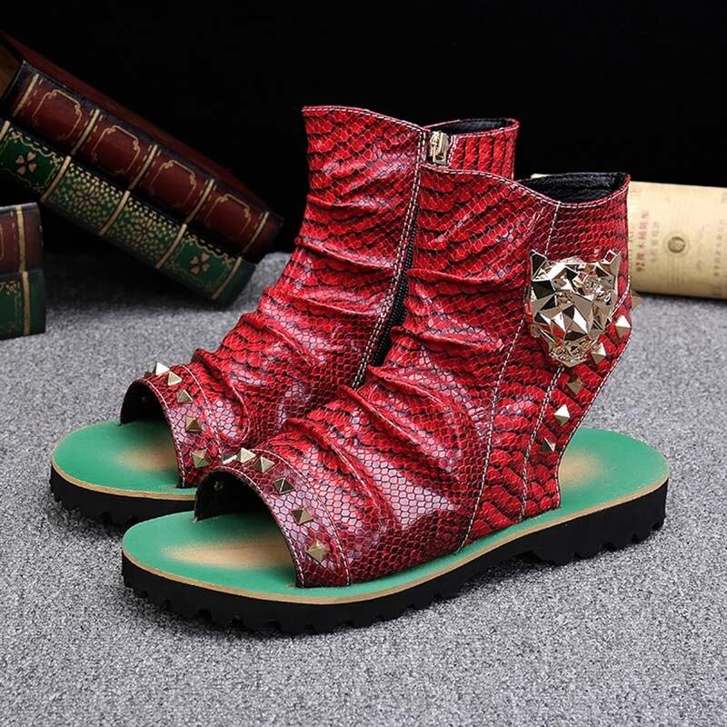 Batzuzhi Zapatillas Mujer Rock Punk Men Sandal Boots with Rivets Slingback Men Casual Beach Sandal Shoes Summer Zapatos Hombre