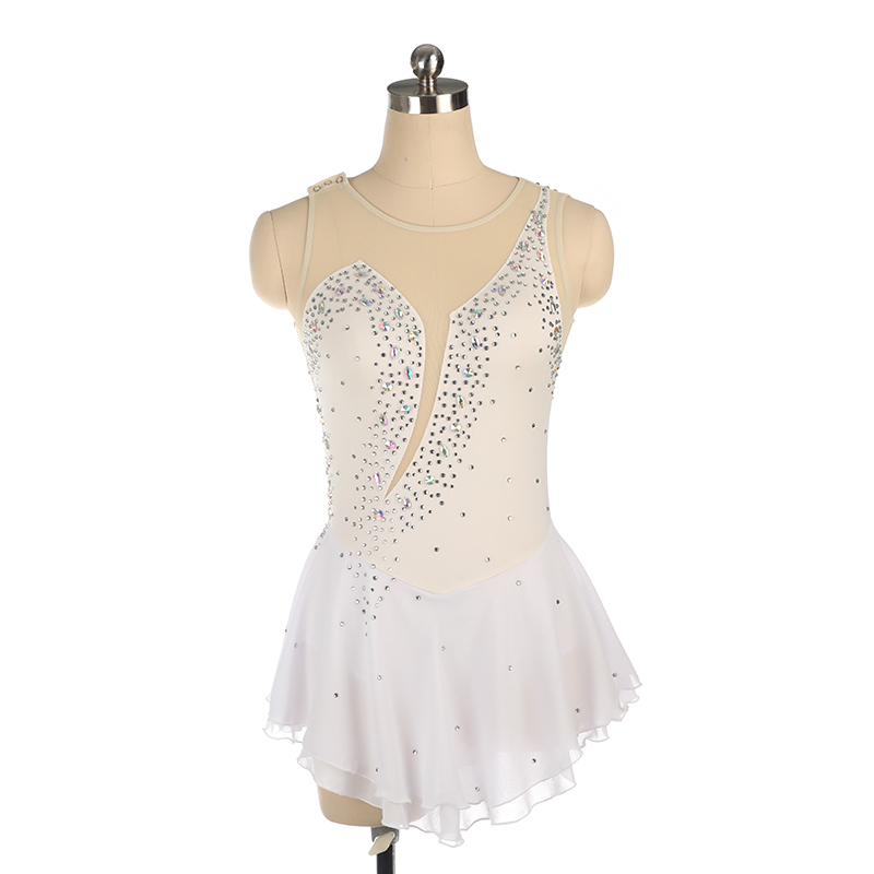Nasinaya Figure Skating Dress Customized Competition Ice Skating Skirt For Girl Women Kids Gymnastics 18 Colors 516