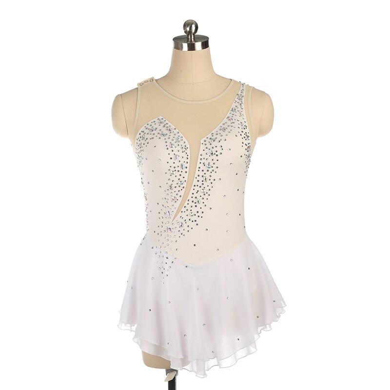 Nasinaya robe de patinage artistique concours personnalisé jupe de patinage sur glace pour fille femmes enfants gymnastique Performance strass