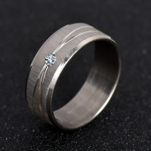 316L Stainless Steel Ring Top Quality Wedding Ring White Crystal For Men Women Fashion Jewelry Never Fade nj30(China)