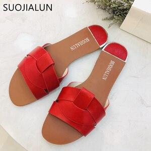 Image 3 - 2019 חדש מותג מעורב צבעים נשים נעל Pllus גודל 35 41 נשים קיץ חוף שקופיות כפכפים חיצוני שטוח נעל