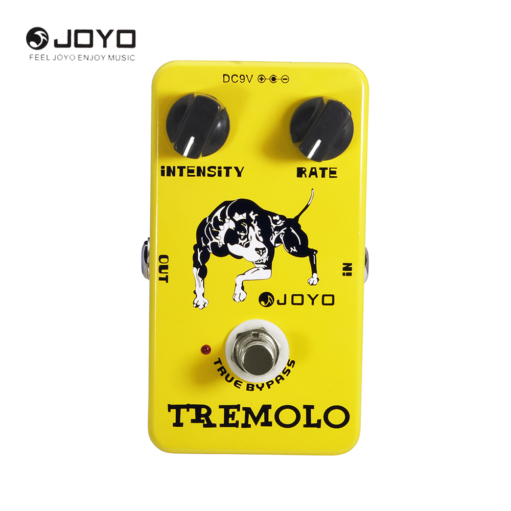 JOYO JF-09 Tremolo Electric Guitar Effect Pedal True Bypass Distinctive Sounds Guitar Accessories joyo rushing train amp simulator electric guitar effect pedal classic liverpool sounds true bypass jf 306 with free 3m cable