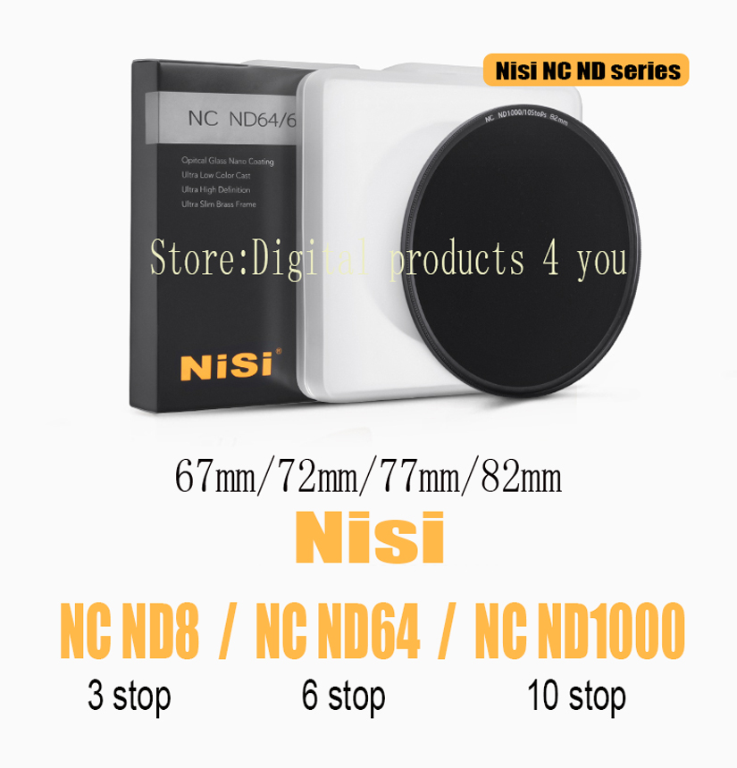 NiSi NC ND1000 10 stop / NC ND64 6 stop / NC ND8 3 stop ultra-thin in gray Neutral Density filter for Digital SLR Camera стоимость