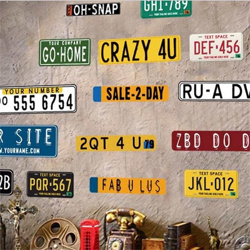 Поддельные металлическая банка знак налет автомобиля Номерные знаки для мотоциклов Наклейки на стену предупреждение плакат без курить выс...