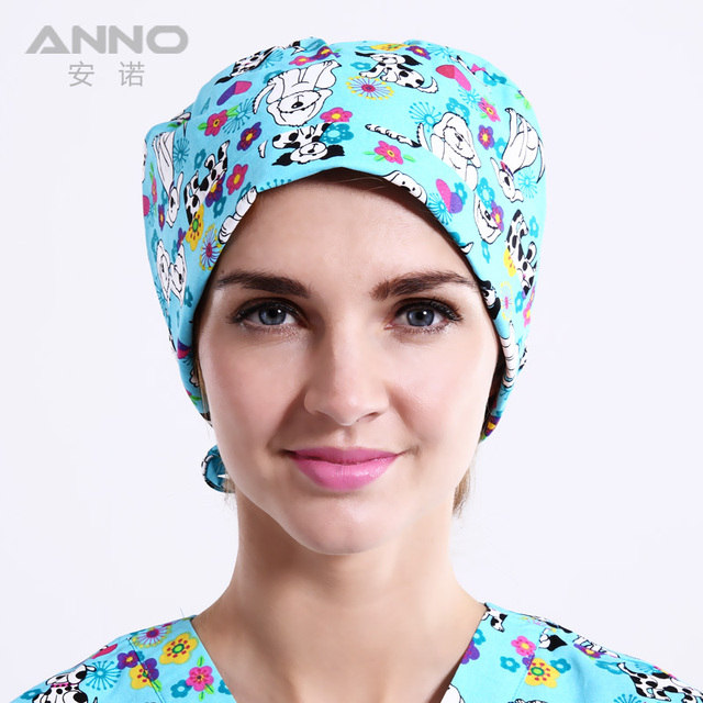pattern printing Gourd  cap unisex scrub hats fit of long and short hair  comfortable scrub caps