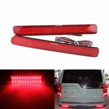 2 Range Rover Sport L320 Discovery 3 4 Rear Bumper Reflector LED Brake Light Red