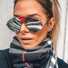 PAWXFB 2019 Polarized Sunglasses Women Oversized Mirror Ladies Pilot Metal frame sun glasses for women UV400