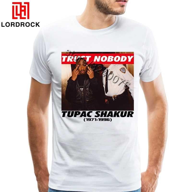 2018 тенденция Тупак рубашка 2Pac Trust Nobody футболка Homme классические модные рэпперская футболка с коротким рукавом мужская футболка Распродажа одежды