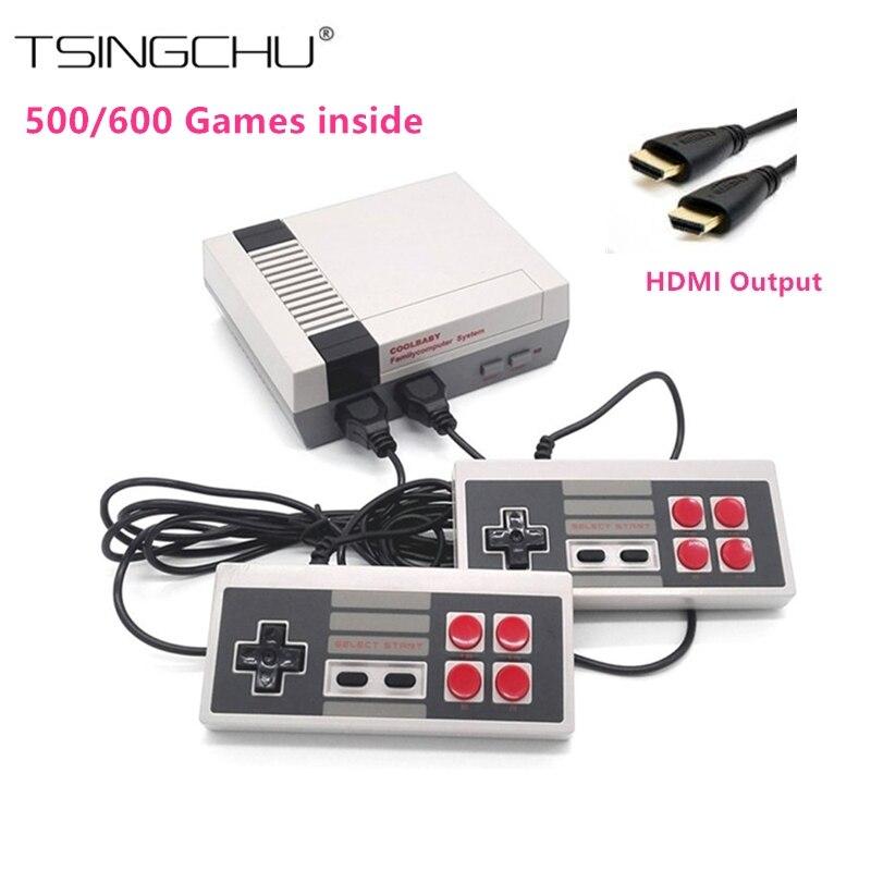 HDMI Выход Ретро Семья мини ТВ игровая консоль встроенный 500/600 различных классических игр nes мини ТВ Ручные игры HD