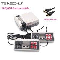 Saída HDMI Família Retro Mini Consola TV Jogo de Vídeo Embutido 500/600 Diferentes Jogos de Nes Mini TV Jogador Handheld Do Jogo HD