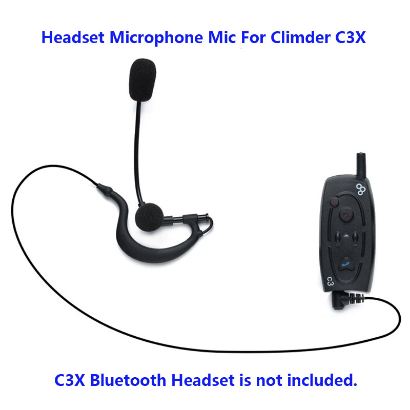 Moto Bluetooth Helme Interphone 3.5mm jack Casque Microphone Mic Pour Climder C3X Bluetooth Interphone