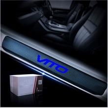 Автомобильная защитная наклейка из углеродного волокна, Накладка на порог автомобиля для Ford Bullitt Mustang explorer Mercedes Benz C63 VITO
