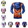 Dragon Ball Z homens de T de alta qualidade Dragon Ball Z Goku Vegeta Saiyan Design de moda Top t-shirt Plus Size
