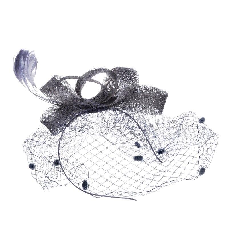 Dressv elegant wedding hats veil bridal flower feathers fascinator bride face veils wedding bride hats
