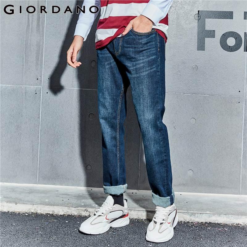Giordano Men Denim   Jeans   Men Elastic Five Pockets Classic Style Denim   Jeans   Zip Front Button Men   Jeans   New Arrivals   Jeans   Hombre