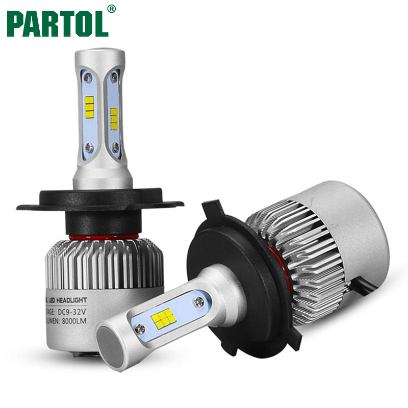 S3 Partol 72W H4 H7 H11 H8 9006 9005 H13 LED Car Headlight Bulbs CSP Chips All in one LED Headlamp Auto Front Fog Light 12V