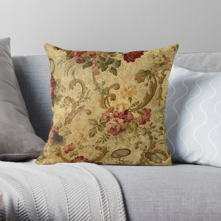 Vintage Tapestry Floral Elegant Victorian Pillow Covers Cases Pattern Nordic Cover Cushion Pillowcase Square Print Pillow Case Aliexpress