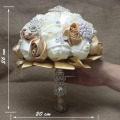 High Quality 2016 Customized Bridal YIYI Bouquet With Beaded Brooch Artificial Bride Bridal  Accents Wedding Bouquets WB026
