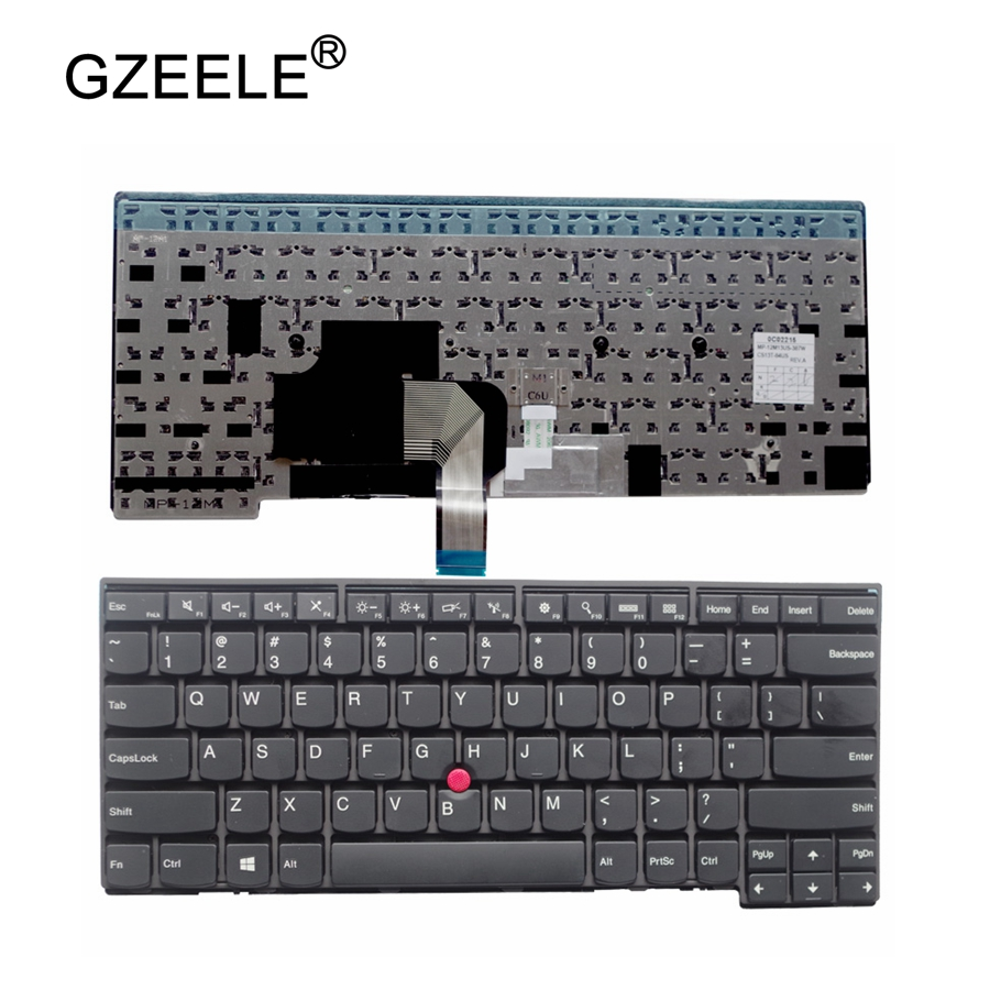 GZEELE NEW <font><b>Keyboard</b></font> for LENOVO IBM T440S T440P T440 E431 T431S E440 L440 T450S T450 <font><b>T460</b></font> US laptop <font><b>keyboard</b></font> no Backlit BLACK image