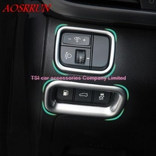 2pcs ABS Headlight Lamp Switch + Rear Trunk Button Frame Cover Trims Modling Garnish For KIA Optima K5 2016 car-styling Interior
