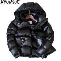 AYUNSUE 90% White Duck Down Jacket Winter Coat Women Thick Short Bright Hooded Korean Overcoat Women's Jackets Warm Parka KJ726