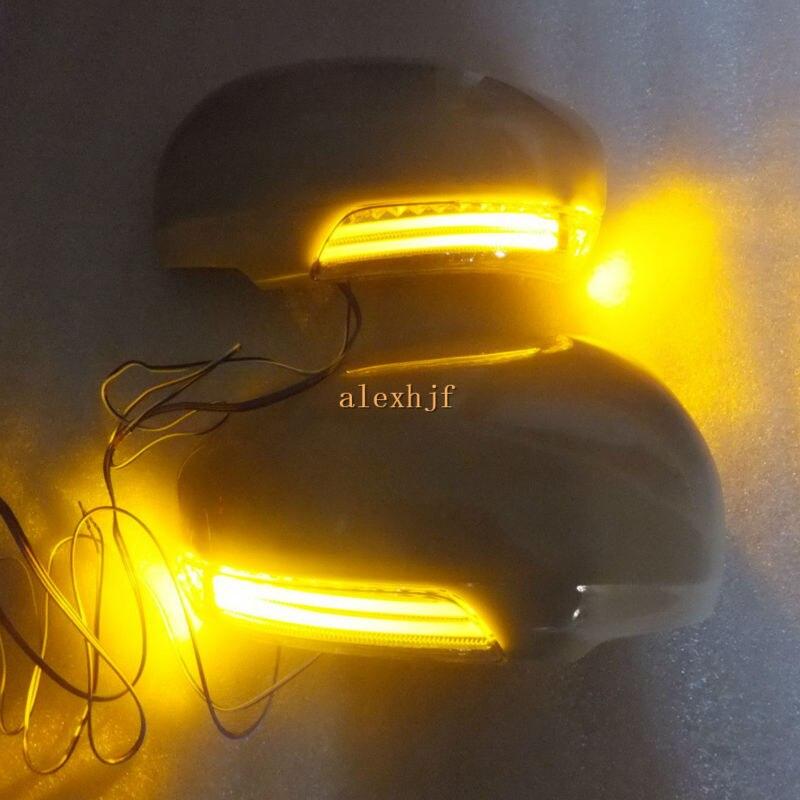 LED rétroviseurs + couvercle, boîtier de clignotant DRL pour Toyota MARK-X CAMRY CROWN AVENSIS PRIUS (ZVW30) SAI WISH IQ VENZA etc.