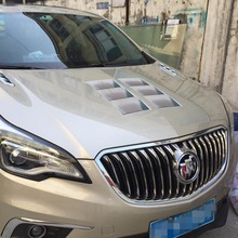 1 Pair 2 Pieces Car Styling 3D Hood Modified Simulation Vent Air Flow Fender Chrome Glue Sticker Decal Decoration Waterproof